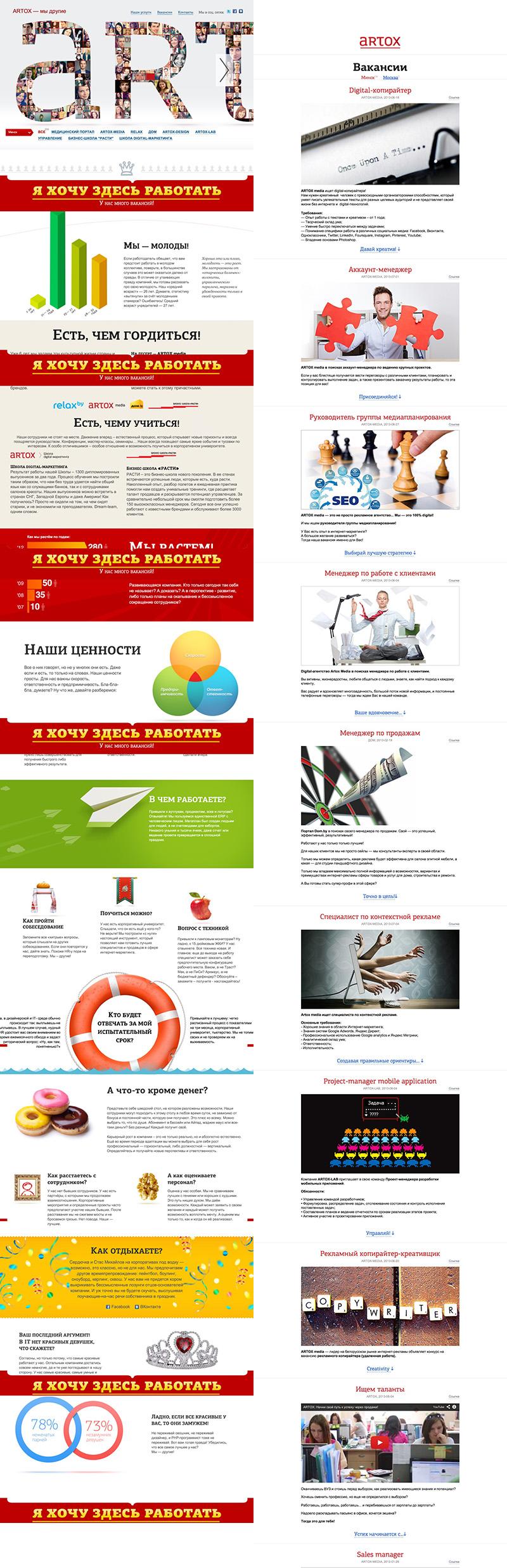 Artox Студия Сорокина Карьерный сайт Кейс Кейс: как привлекать дорогостоящих игреков и зетов в компанию?